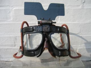 bfc8fafd07 Left  RAF Mk IV b flying goggle with all fittings (removable sun shield